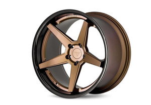 Felgi dla Bentley - Ferrada FR3 Matte Bronze/Gloss Black Lip
