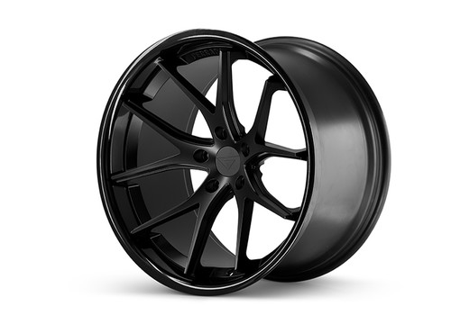 Ferrada FR2 Matte Black/Gloss Black Lip - Wheels for McLaren