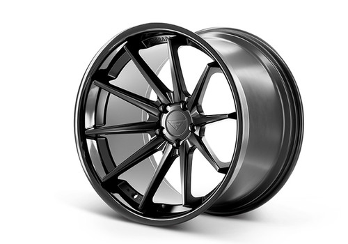 Ferrada FR4 Matte Black/Gloss Black Lip - Wheels for McLaren