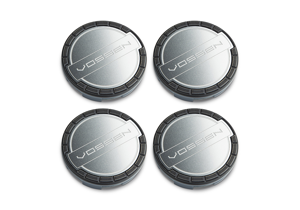 Accessories - Center caps Vossen Classic (Stealth Grey/Brushed)
