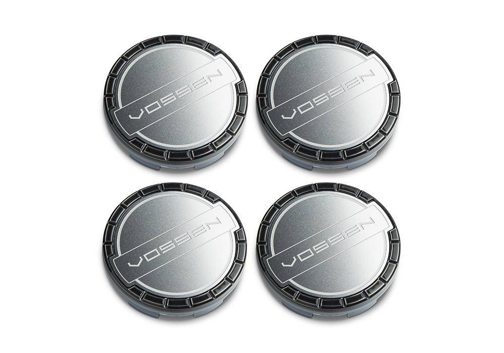 Accessories - Center caps Vossen Classic (Midnight Smoke/Brushed)