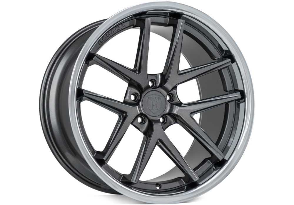 Wheels for Dodge - Rohana RC9 Gloss Graphite/Stainless Lip