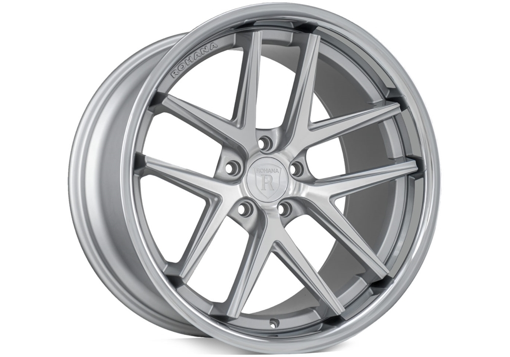 Wheels for Dodge - Rohana RC9 Machine Silver/Stainless Lip