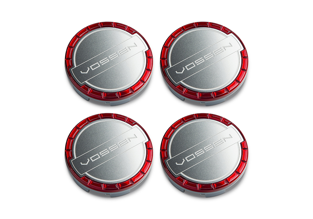 Accessories - Center caps Vossen Classic (Vossen Red/Brushed)